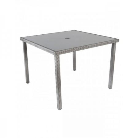 Bastenski sto od ratana sivi - avola ( 047062 )
