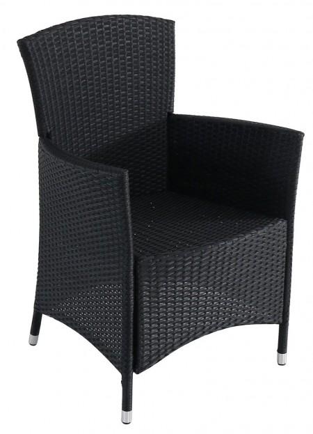 Bastenska fotelja od ratana crna - atlantic ( 047011 )