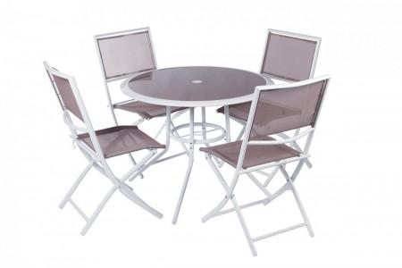 Bastenski set sorento - sto + 4 stolice ( 047005 )