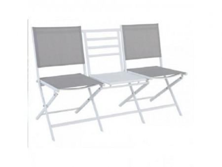 Vieste - sto + 2 stolice metalni ( 046991 )
