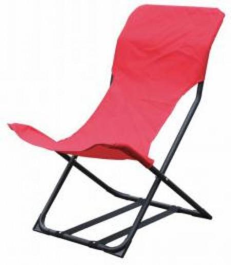 Metalna stolica za plazu crvena - castelo ( 037918 )
