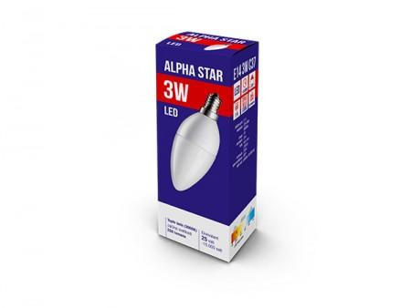 Alpha Star Led Sijalica E14 3W Toplo Bela 3000K candle ( E14 3W  )