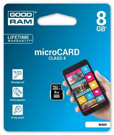 GoodRam 8GB MiceoSDHC CL4 memorijska kartica ( MCGR8G/Z )