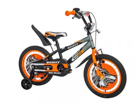 Dečiji Bicikl Wolf 16 crna/siva/narandžasta ( 460454 )