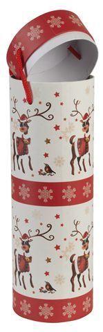 Kutija ukrasna za bocu 10x33 cm Jelen