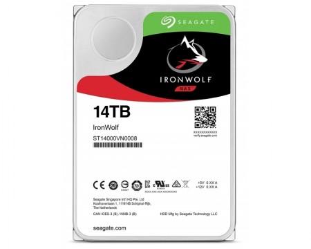 Seagate 14TB 3.5 SATA III 256MB ST14000VN0008 Ironwolf Guardian HDD