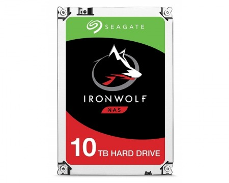 Seagate 10TB 3.5 SATA 6 256MB ST10000VN004 Ironwolf Guardian HDD