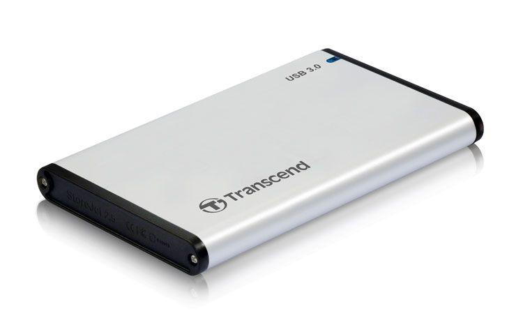 Transcend HDD External Enclosure 2.5 SATA USB 3.0 Silver ( TS0GSJ25S3 )