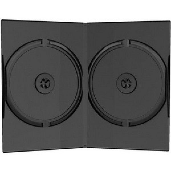 MediaRange BOX14 Kutija dupla Slim DVD CRNA 9MM ( 955DS2/Z )