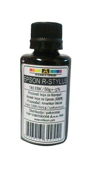 American Inkjet - Epson 180EBK crni refil za R-Seriju ( 32ER/Z )