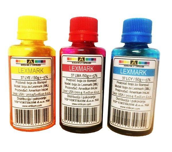 American Inkjet - Lexmark color refil 37LCY 37LMA 37LYE ( 30L/Z )