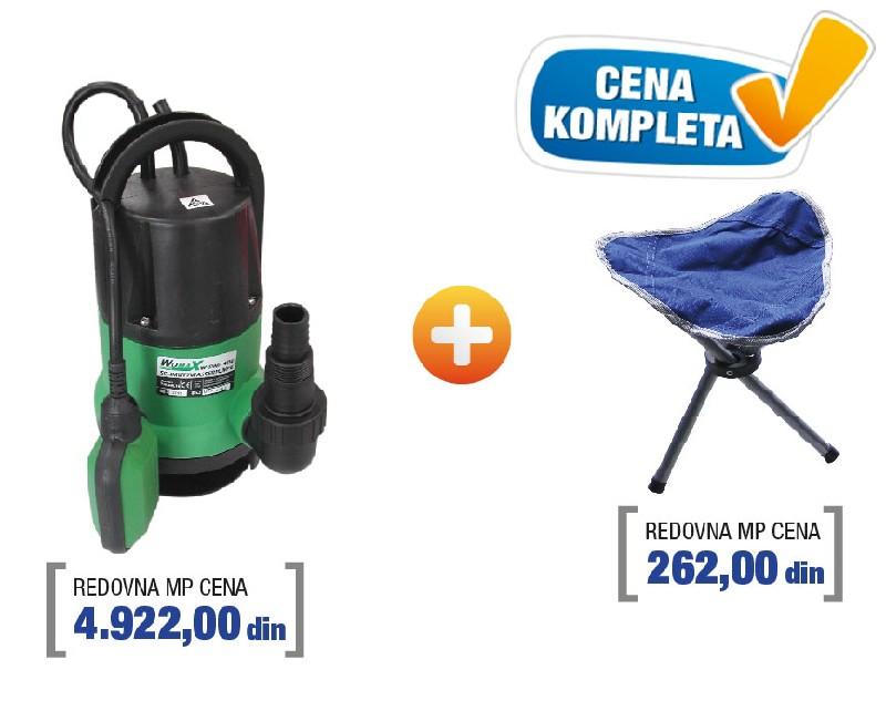 Womax pumpa potapajuća sa stolicom W-SWP 4001 ( 78040010s )