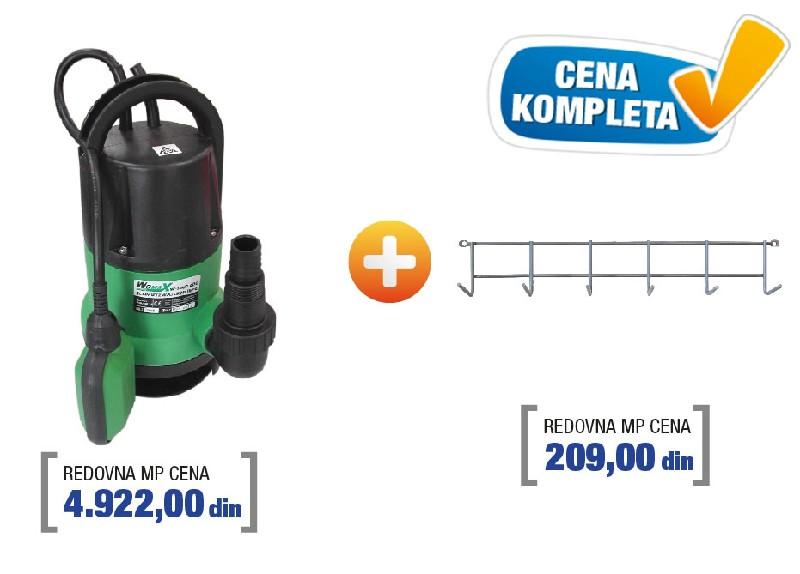 Womax pumpa potapajuća sa nosačem W-SWP 4001 ( 78040010n )