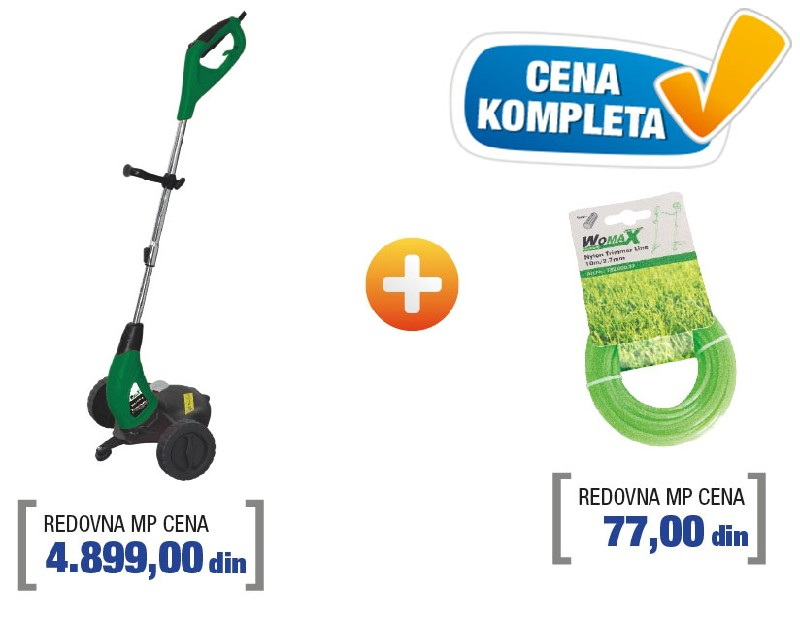 Womax trimer za travu sa najlonom W-RT 500 G ( 78250100v )