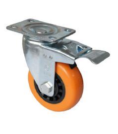 Womax točak polipropilen 100mm sa kočnicom ( 76590511 )
