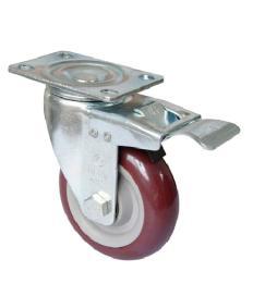 Womax točak poliuretan 100mm sa kočnicom ( 76590411 )