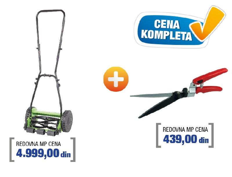 Womax kosačica ručna 43cm W-HM 43 sa makazama za travu ( 78500143m )