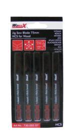 Womax list testere za ubodnu testeru 75mm HCS 5 kom ( 73000507 )