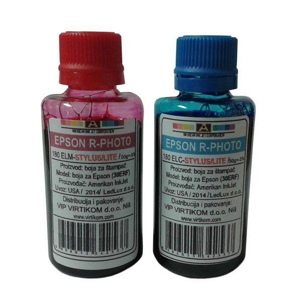American Inkjet refil za  Epson R-Seriju Foto Light 180ELCYAN 180ELMAG ( 30ERF/Z )
