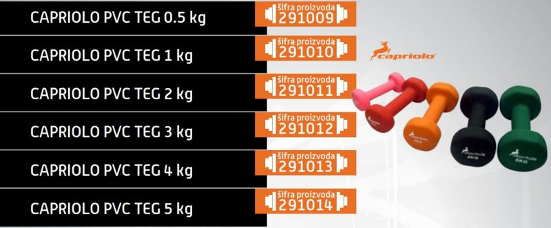 Capriolo pvc teg 2kg ( 291011 )