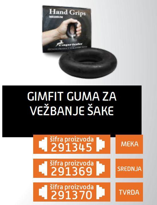 Gim Fit guma za vežbanje šake tvrda, srednja, meka ( 291370 )